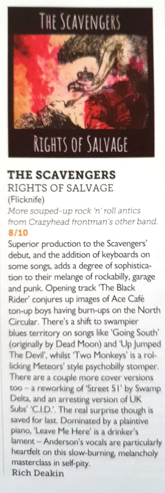 The Scavengers Vive Le Rock Review