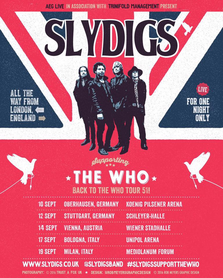 Slydigs on tour with The Who